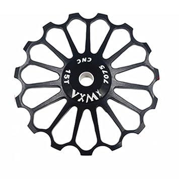 VXM 17T MTB Ceramic Bearing Jockey Polea De Rueda para bicicleta de carretera bicicleta cambio trasero de marchas, negro: Amazon.es: Deportes y aire libre