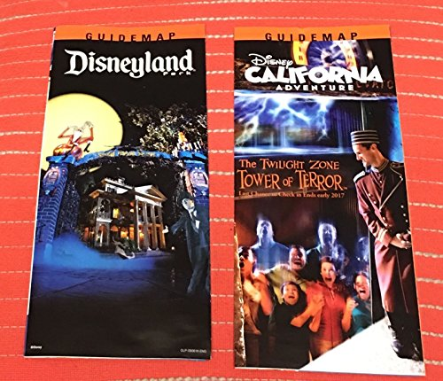 2016 Disneyland and Disney California Adventure Halloween Time Maps Tower of Terror CLOSING MAP