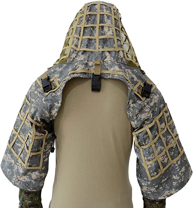 Tactical Military/&Hunting Fully Covered Sniper Ghillie Set Snow Camouflage