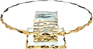 """Godinger Cake Plate 9"""" Server Stand - Harper"""