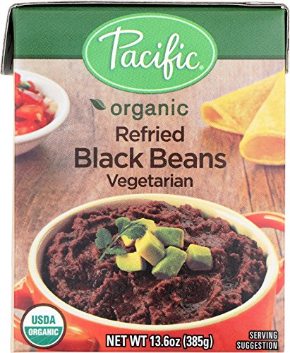 (PACIFIC FOODS BEANS BLK REFRIED VEGTRN, 13.6 OZ)