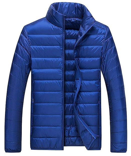 Martinad Down Coat Hombres Chic Down Chaqueta Jacket Warm Escudo Ultralight Down Long Outdoor Winter Solid Color: Amazon.es: Ropa y accesorios