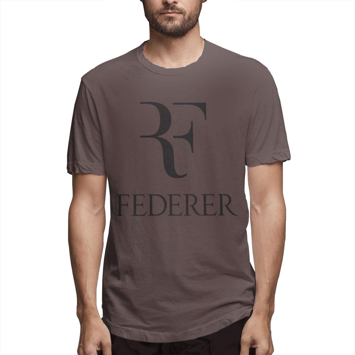 LANBRELLA Mens Roger Federer Crew Neck Short Sleeve T-Shirt