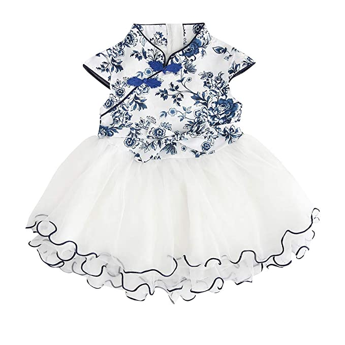 Amazoncom 2019 Baby Girls Princess Lace Dress Toddler Kids