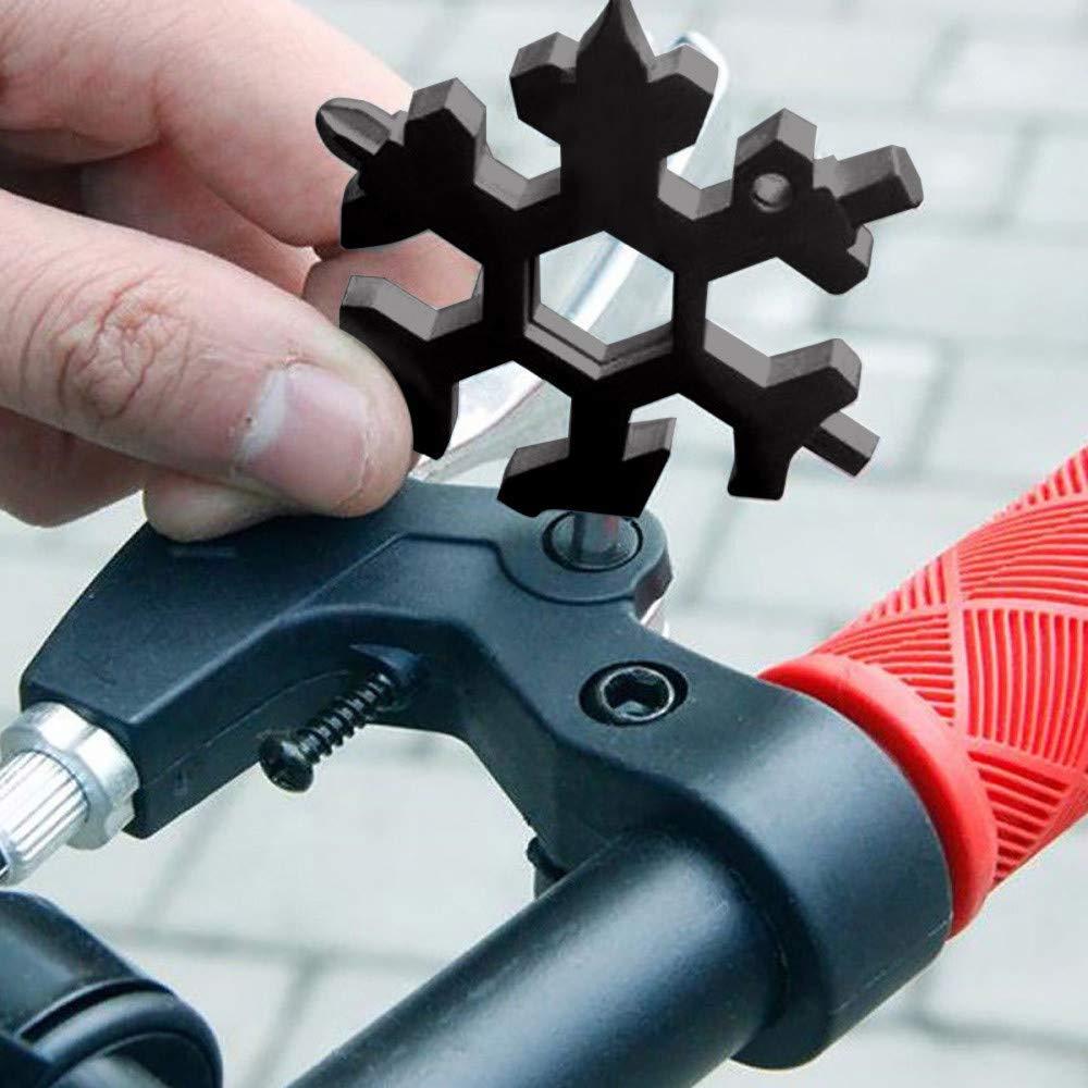 Mini Portable Snowflake Multi Tool cacciavite Bottle Opener Keychain Anti-Lost Incredible Tool Regalo di Natale STILE UNICO DI COLORI 18-in-1 Multi-Tool in Acciaio Inox