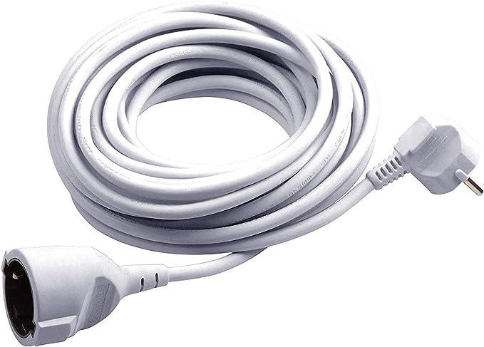 Meister Schutzkontakt Verlängerung 3 M Kabel Weiß Kunststoffleitung Ip20 Innenbereich Kupplung Mit Berührungsschutz Schuko Verlängerung 7432310 Baumarkt