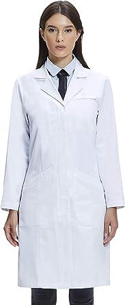 Dr. James Bata de Laboratorio Mujer, 100% Algodón Corte Clásico ...