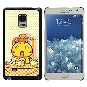 Paccase / SLIM PC / Aliminium Casa Carcasa Funda Case Cover - Cute Japanese Happy Cat - Samsung Galaxy Mega 5.8 9150 9152