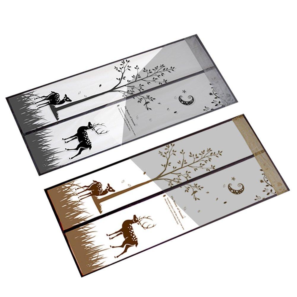 Su-luoyu Magnet Fliegengitter T/ür Insektenschutz Der Magnetvorhang ist Ideal f/ür die Balkont/ür Kellert/ür Terrassent/ür Kinderleichte Klebemontage Ganz Ohne Bohren Elch grau 90 * 210cm