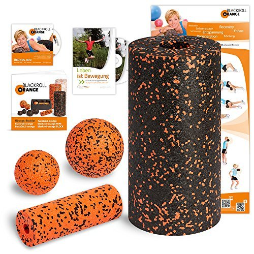 Blackroll Orange (the original) - THE self-massage roller - Vital set, standard plus (incl. training DVD, booklet and exercise poster) by blackroll-orange / Dr. Paul Koch GmbH by blackroll-orange / Dr. Paul Koch GmbH