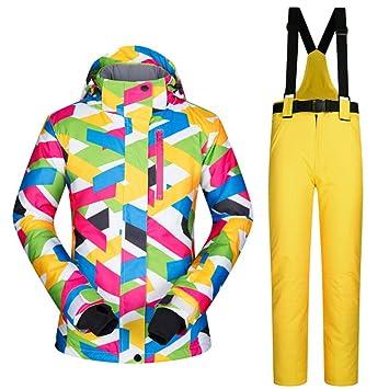 MEOBHI Traje de esquí Mujer Traje de esquí Chaqueta y ...
