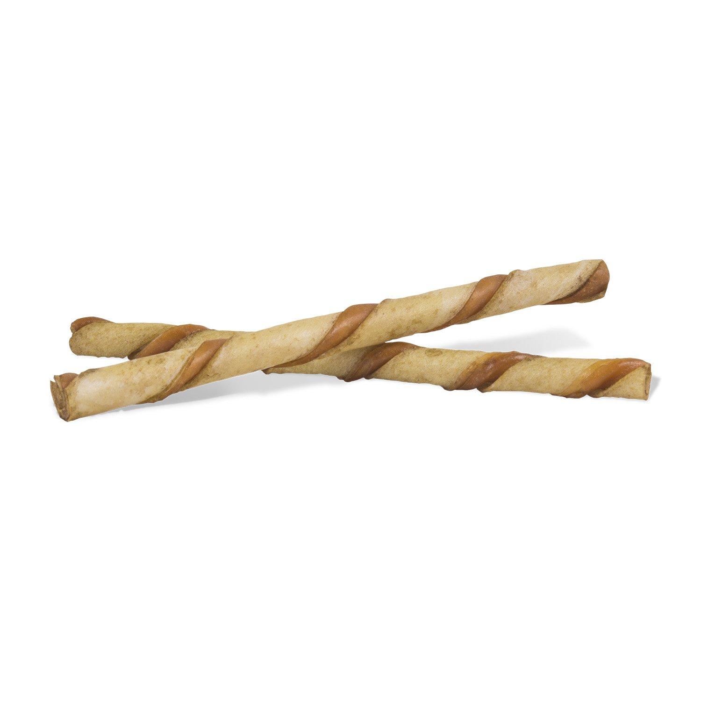 Dingo Twist Sticks with Peanut Butter, Rawhide Chew, 25