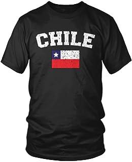 Amdesco Mens Chilean Flag, Flag of Chile T-shirt