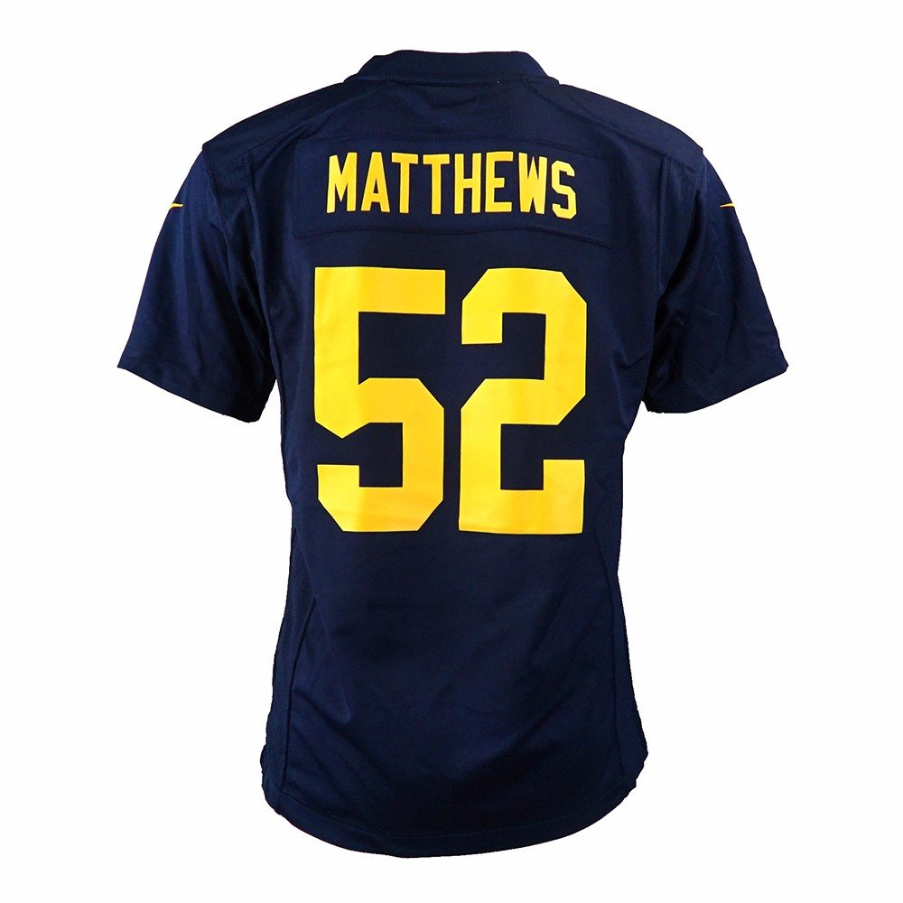 056e6c360 Amazon.com : Nike Clay Matthews Green Bay Packers NFL Navy Game Team Jersey  for Youth : Sports & Outdoors