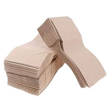 Verpackungsbeutel Packpapier Beutel Papierbeutel Fettbeständig 100 Stk