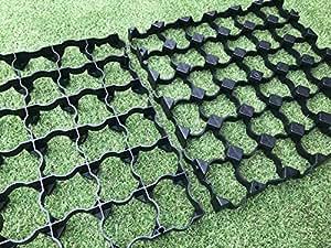 Aparcamiento entrada rejillas 50metros cuadrados = X200entrada grillas grava rejillas + resistente hierba tela membrana–hierba grillas (4hace 1metro cuadrado) plástico estabilidad grillas ECO pavimentando BASES y unidad forma rejilla porosa pavimentando hierba y grava rejillas