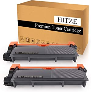 HITZE Compatible Toner Cartridge Replacement for Brother TN630 TN660 TN-660 for Brother MFC-L2700DW DCP-L2540DW HL-L2300D HL-L2380DW HL-L2340DW HL-L2360DW MFC-L2740DW (Black, High Yield, 2 Pack)