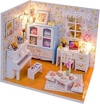 P Prettyia Miniature Dollhouse Kit Modèle de Chambre à ...
