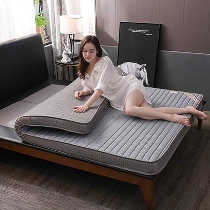 qwqqaq Natural Látex Colchón,futón Tatami De Piso Espesar Respirable Colchón Plegable Alfombra del Piso para Sala De Estar Dormitorio T 150x200x9cm(59x79x4inch): Amazon.es: Hogar