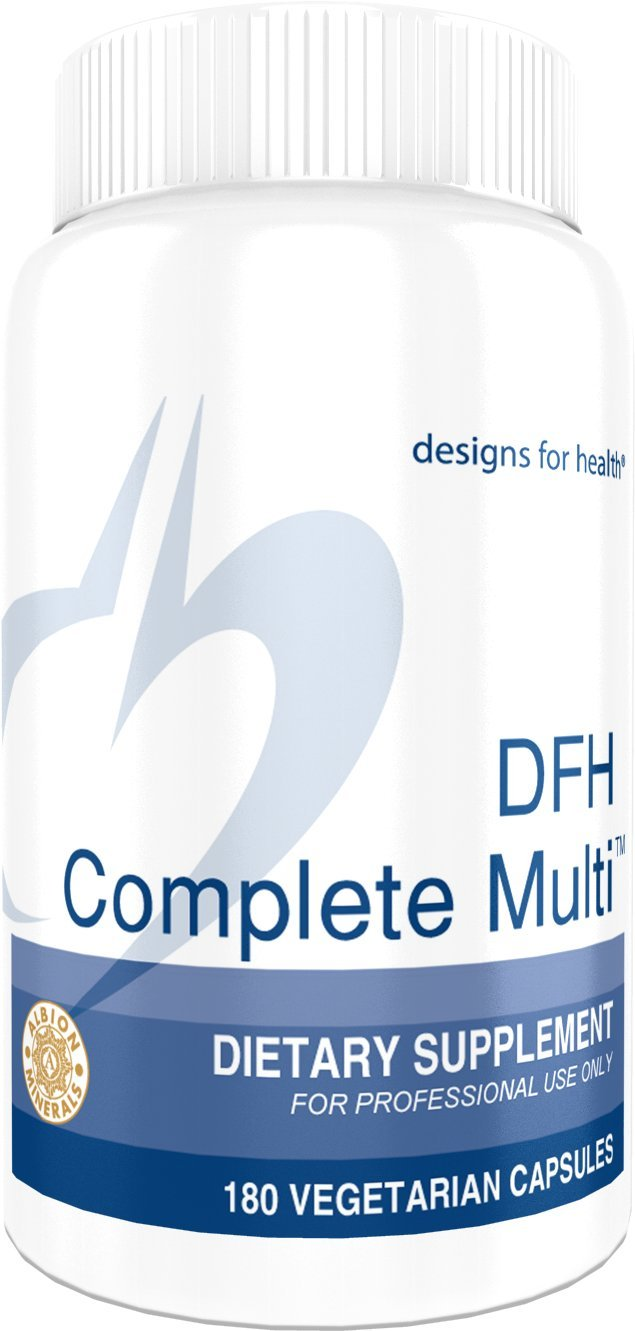 Designs for Health - DFH Complete Multi - Multivitamin / Multimineral without Copper or Iron, 180 Capsules