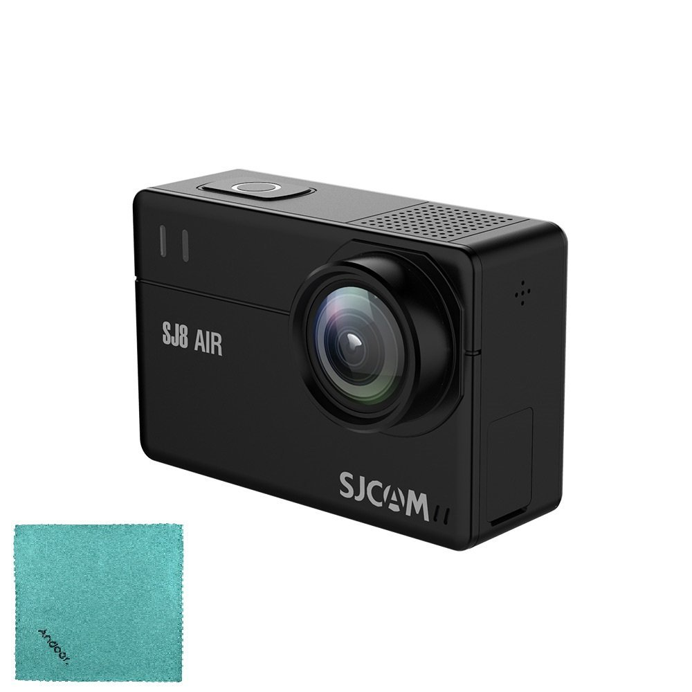 SJCAM SJ8 AIR Action Camera Sports Cam 12MP 1296P 2.3 Inch Touch Screen with 160°Wide Angle Lens Diving HD Camcorder Car DVR White Bare-metal Version with Andoer Cleaning Cloth