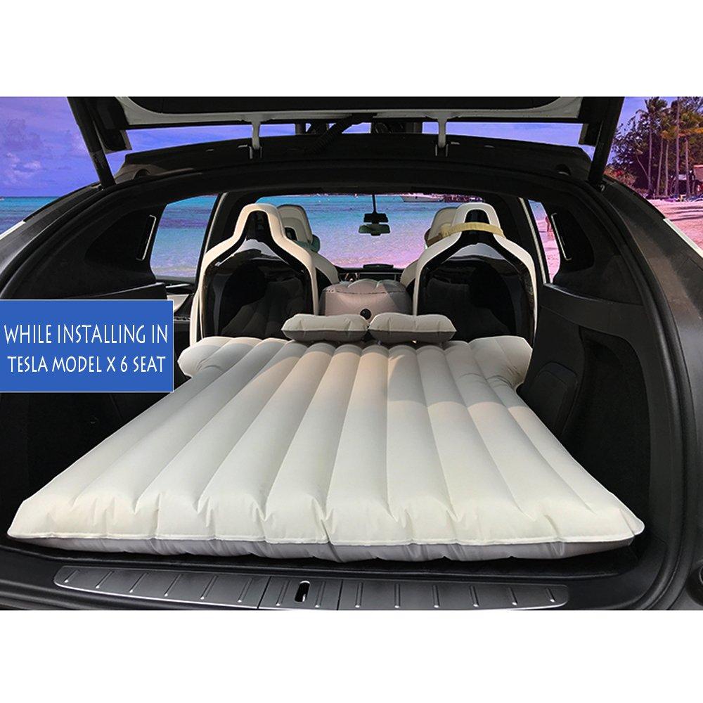TeslaOwner Aufblasbare Matratze fürs Auto, für Camping, Reisen, Schlafen, Auto