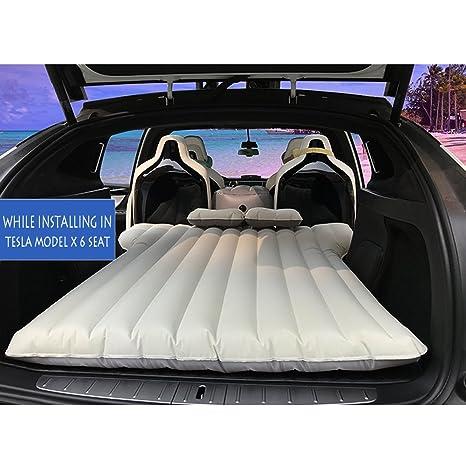 Colchón hinchable para coche con 2 almohadas de aire y bomba de aire para acampada,