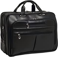 McKlein Rockford piel fly-through checkpoint-friendly 43,2 cm Laptop Case