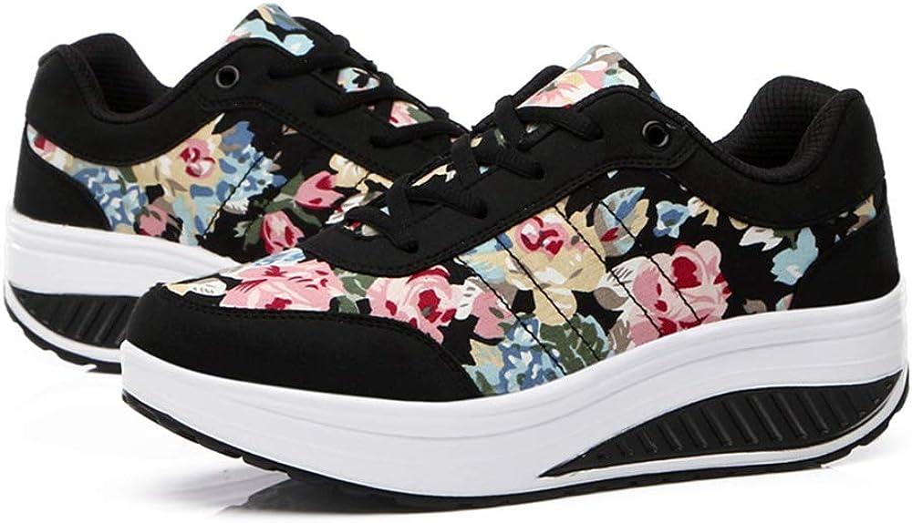 QZBAOSHU Femmes Minceur Chaussures Marche /& Baskets Aptitude Wedges Plate-Forme Chaussures Sneakers
