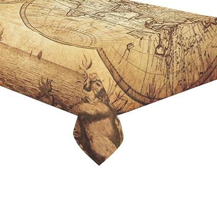 Tremendous Amazon Com Interestprint Home Decoration Retro World Map Machost Co Dining Chair Design Ideas Machostcouk