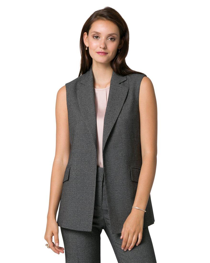 LE CHÂTEAU Women's Tweed Notch Collar Vest 348163