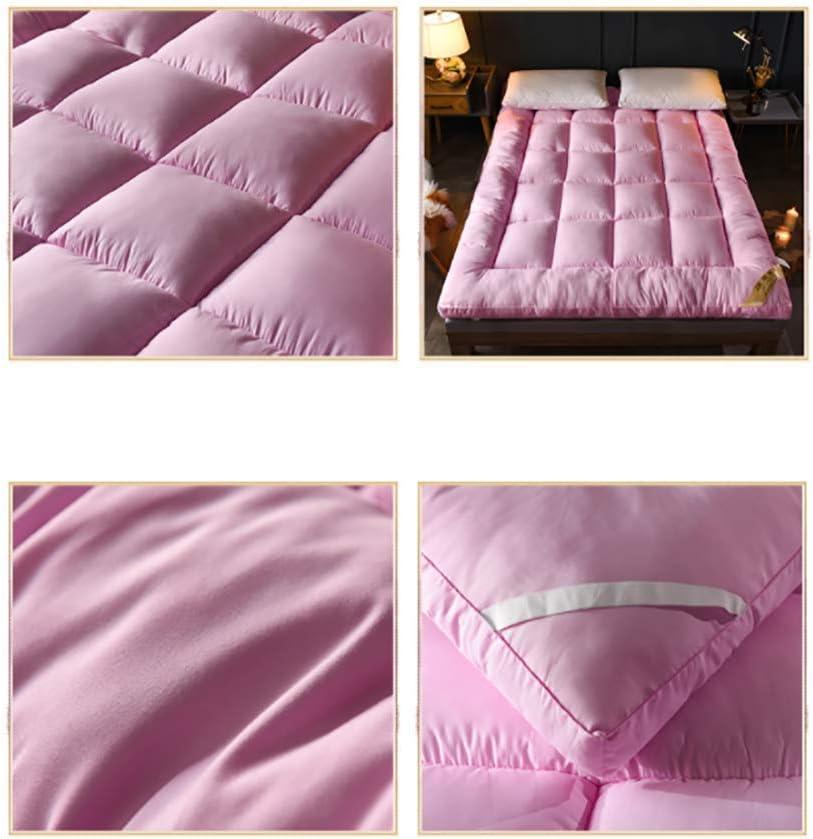 LYBFNN Futon Colch/ón Tatami Ground Mat Plegable Algod/ón Ecol/ógico Memory Colch/ón con Correas Terten Espuma Japon/és Tradicional Colch/ón Fut/ón Antideslizante Viajes Camping,E:Pink,100 200cm