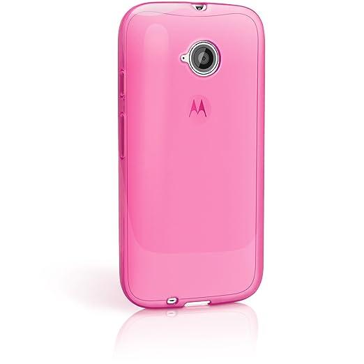 104 opinioni per igadgitz Trasparente Rosa Lucido Protettiva Custodia Gel TPU per Motorola Moto E