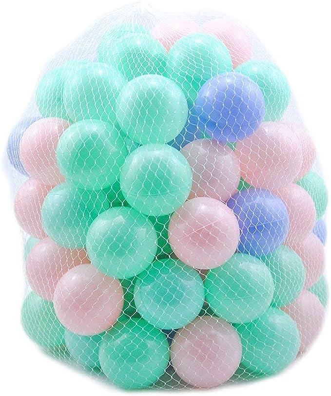 ZZM 100 Bolas de Colores Plástico Pelotas Océano Respetuoso del ...