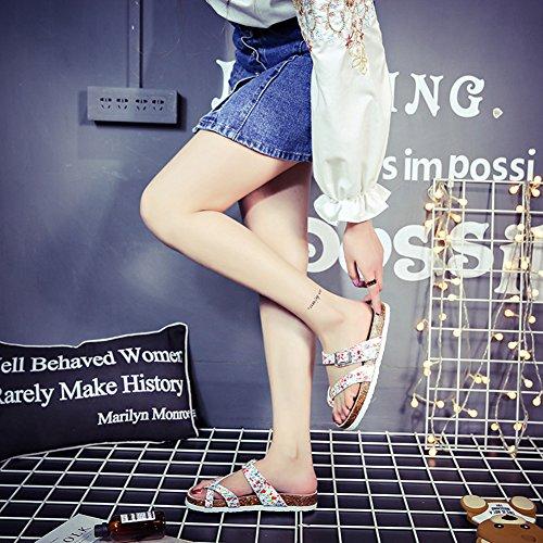 Mujer Planos Unisexo Zapatos de la playa Cómodos Sandalia Zapatos Planos sandalias del dedo del pie del clip 1