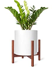 Mkono Plant Stand Mid Century Wood Flower Pot Holder Indoor Potted Rack Modern Home Decor (Plant and Pot NOT Included) …