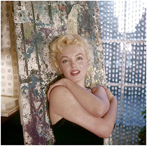 Marilyn Monroe In Color Holding Self By Window 8 x 10 Photo
