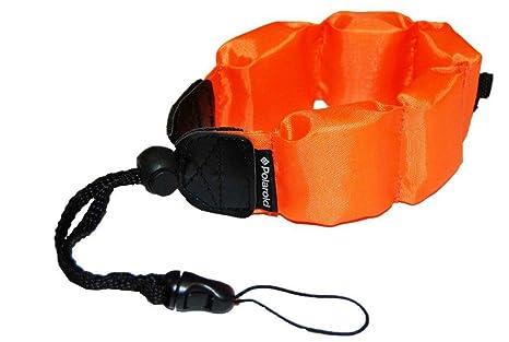 Polaroid correa flotador para muñeca (naranja) para cámaras, cámaras de vídeo y carcasas