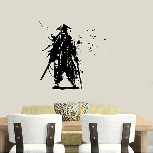 etiqueta de la pared decoración Etiqueta Samurai Etiqueta ...