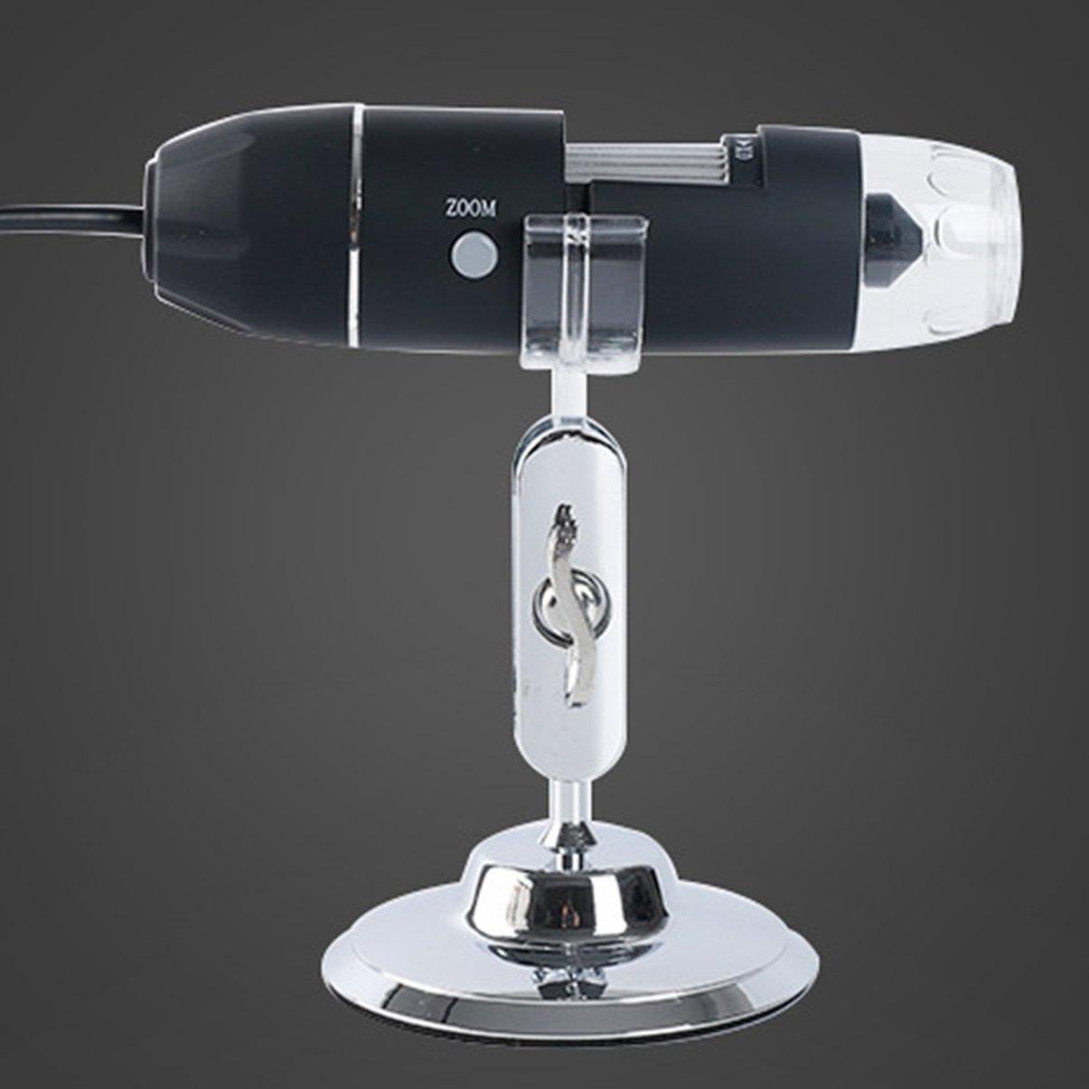JullyeleESgant 1600X HD Lupa electrónica Microscopio Lupa Digital portátil Lupa Microscopio médica Industrial Microscopio USB con Soporte de Metal 04faeb