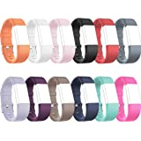 RedTaro Replacement Wristbands for Fitbit Charge 2 Small Large Pack of 12, Fitbit Charge 2 Classic Accessory Bands