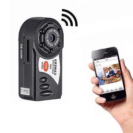 triclicks Wireless WiFi Mini cámara portátil P2P WIFI Vigilancia Seguridad pequeñas con IR Visión Nocturna para