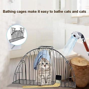 Excellent112 - Jaula para Mascotas de 2 Puertas, secador de Pelo para Gatos y Gatos