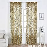 BalsaCircle 52 x 108-Inch Champagne Big Payette Sequin Window Drapes Curtains 2 Panels – Home Party Wedding Ceremony Decorations Review