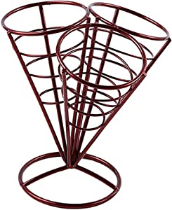 Chip Cone Holder For Deep Fryer French Fries Fried Chicken Wire Oil Holder - Red