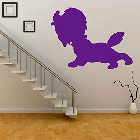 zhuziji Fun Puppy Dog Silhouette PVC Wall Sticker Decal ...