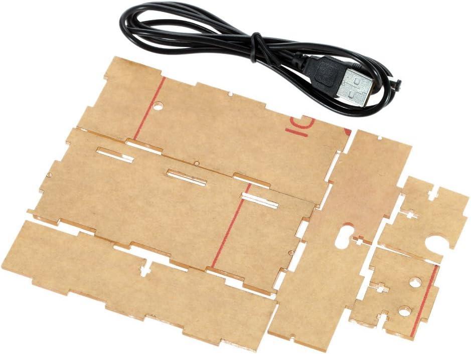 Projektionswecker Reisewecker Dual-Alarm Kompakte 4-stellige DIY LED Digitaluhr Kit Light Control Temperaturanzeige Datum Zeit mit transparenten Etui,digitaler Wecker Tischuhr