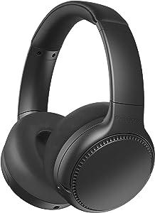 Panasonic RB-M700B Deep Bass Wireless Bluetooth Immersive Headphones with XBS DEEP, Bass Reactor and Noise Cancelling (Black)