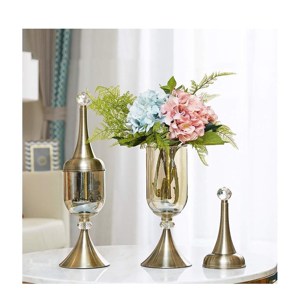 ガラス花瓶 厚手のガラス工芸家への贈り物、ドライフラワー、ふたセット(1セット2枚) B07T3B3MHW