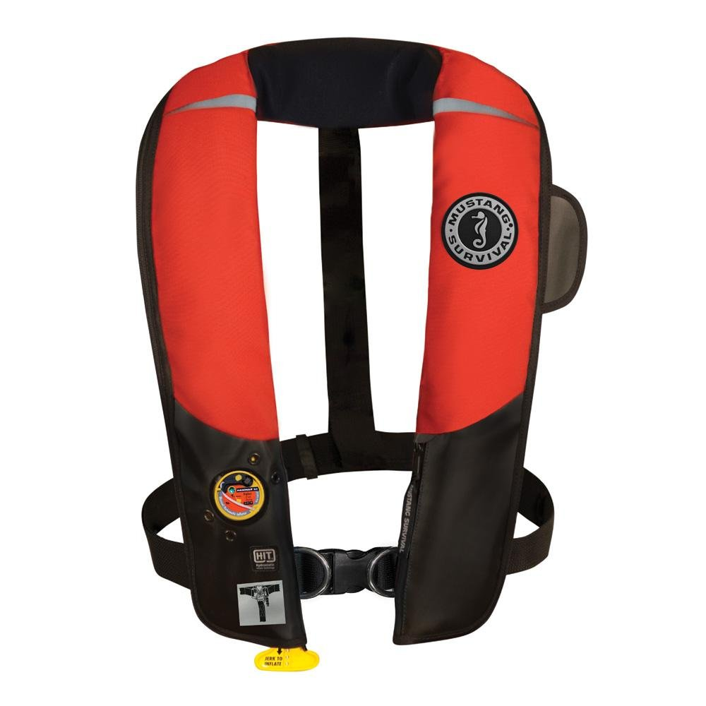 1 - Mustang HIT Inflatable Automatic PFD w/Harness - Red/Black
